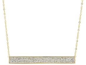 10K Yellow Gold Brilliamo™ Bar Necklace