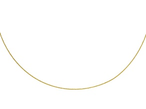 10K Yellow Gold 0.7MM Omega Cable Flex Chain