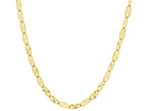 10K Yellow Gold Twisted Starburst Chain