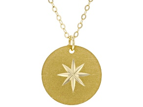 10K Yellow Gold Compass Necklace