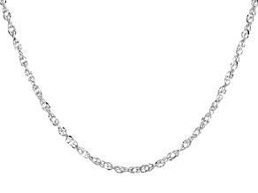 10K White Gold Diamond-Cut 1.8MM Double Torchon Chain