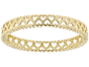 10K Yellow Gold Heart Cutout Band Ring