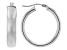 14K White Gold 6x25MM Polished Tube Hoop Earrings