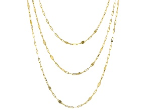 10K Yellow Gold Multi-Row Mirror Necklace