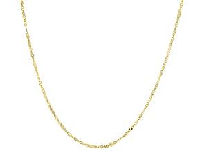 10K Yellow Gold 1MM Alternated Singapore Chain