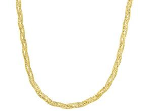 10K Yellow Gold Braided Chain