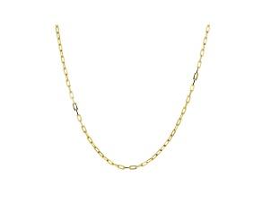 10K Yellow Gold 1.3MM Diamond-Cut Paperclip Chain