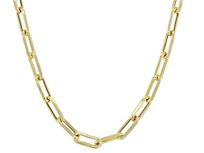 10K Yellow Gold 3.2MM Hollow Paperclip Chain