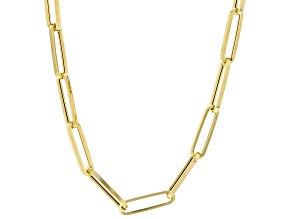 10K Yellow Gold 4MM Hollow Paperclip Chain