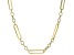 10K Yellow Gold 5.3MM Figaro Paperclip 18 Inch Chain