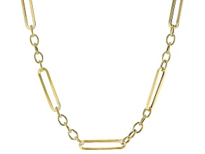 10K Yellow Gold 5.3MM Figaro Paperclip 24 Inch Chain