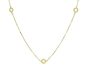 10K Yellow Gold North Star Station Necklace