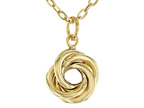 10K Yellow Gold Love Knot Necklace
