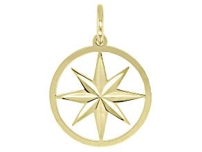 10K Yellow Gold North Star Pendant