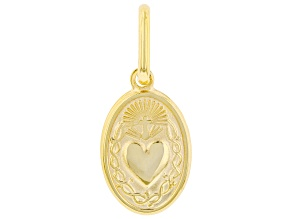 10K Yellow Gold Holy Heart Medal Pendant