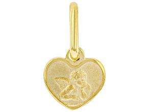 10K Yellow Gold Angel Heart Pendant