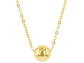 10K Yellow Gold High Polished 6MM Bead Necklace