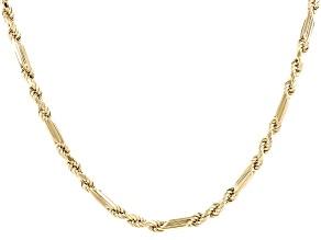 10K Yellow Gold 3.5MM Figaro Rope Chain