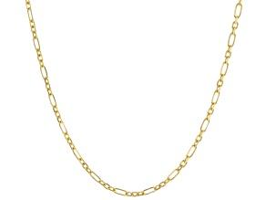 14K Yellow Gold 1.2MM Figaro Chain