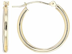 14K Yellow Gold 2x20MM Tube Hoop Earrings