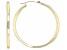 10K Yellow Gold 3x40MM Tube Hoop Earrings