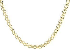 10K Yellow Gold 3MM Hollow Bismark Chain