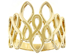 10k Yellow Gold Geometric Statement Ring