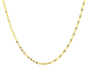 10K Yellow Gold 2MM Mirror Chain