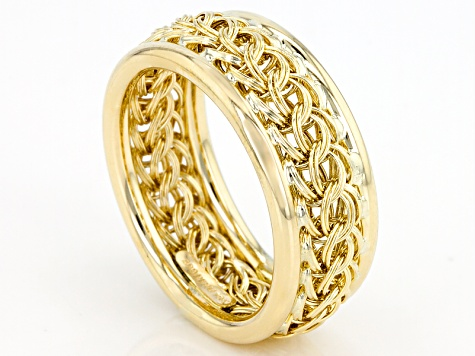 10k Yellow Gold Hollow Curb Band Ring