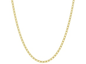 10K Yellow Gold 1.8MM Marquise 20 Inch Chain