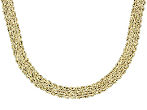 10k Yellow Gold Domed Rope 17 inch Necklace
