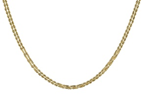 10k Yellow Gold Two Row Designer Rope 20 inch Necklace