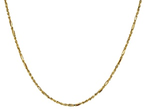10k Yellow Gold Designer 20 inch Chain Necklace
