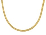 10k Yellow Gold Herringbone And Snake Necklace 20 inch