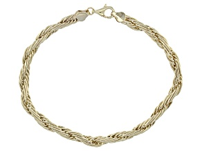10k Yellow Gold Rope Bracelet 8 inch