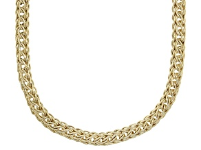 10k Yellow Gold Round Wheat Necklace 18 inch 4.5mm