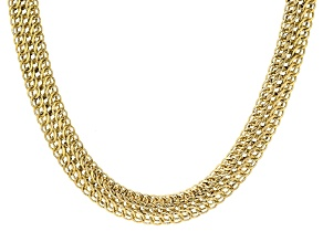 10k Yellow Gold Designer Woven 18 inch Necklace
