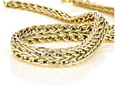 10k Yellow Gold Designer Wide Wheat 18 inch Necklace