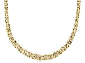 10k Yellow Gold Graduated Byzantine 18 inch Necklace