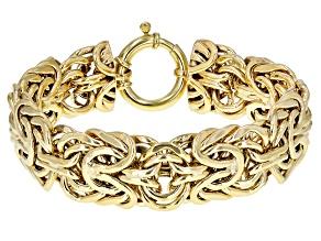 10k Yellow Gold Mirrored Byzantine 8 inch Bracelet