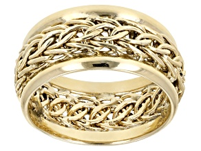 10k Yellow Gold Polished Wheat Band Ring