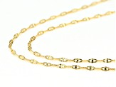 10k Yellow Gold Mariner Chain Necklace Set Of Two 20 inch 24 inch