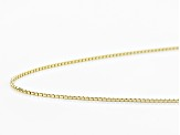 14k Yellow Gold Box Chain Necklace 20 inch