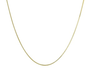 14k Yellow Gold Box Chain Necklace 24 inch