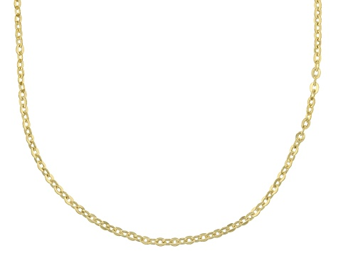 14k Yellow Gold Cable Chain Necklace 18 inch 1.6mm