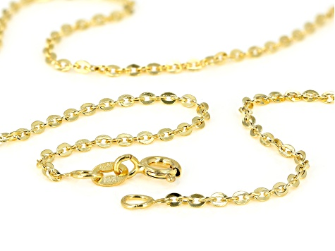 14k Yellow Gold Cable Chain Necklace 20 inch 1.6mm