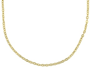 14k Yellow Gold Cable Chain Necklace 24 inch 1.6mm