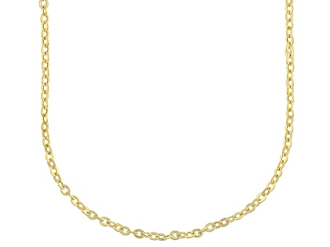 14k Yellow Gold Cable Chain Necklace 20 inch 2.0mm