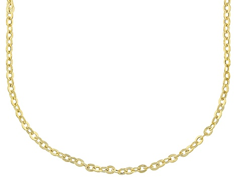 14k Yellow Gold Cable Chain Necklace 24 inch 2.0mm