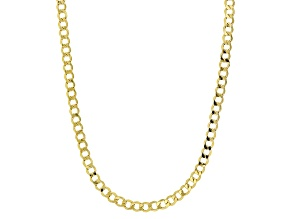 14k Yellow Gold Curb Chain Necklace 20 inch 3.0mm